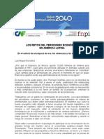 Texto de reflexión del Foro Periodismo Económico
