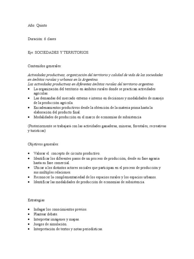 Circuito Productivo De La Caña De Azucar : Planificación segundo ciclo