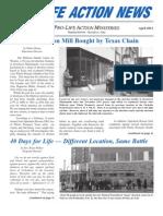 Prolife Action News (April 2012) (Prolife Propaganda)