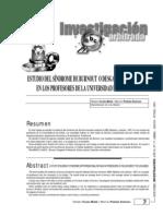 Estudio del síndrome de burnout o desgaste profesional en los profesores de la ULA