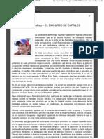 El discurso de Capriles