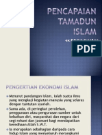 Pencapaian Tamadun Islam dari segi ekonomi