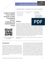 Quality care at childbirth in the context of Health Sector Reform Program in India