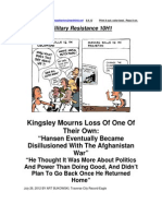 Military Resistance 10H1 Disillusioned