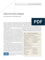 Drug Induced Hyperuricemia Gout