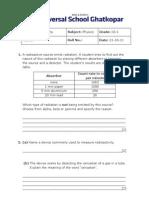 Radioactivity Test IG-1 (21!10!11)