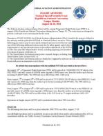 FAA RNC2012 Flight Advisory