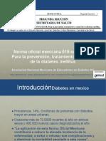 Norma oficial mexicana 015-ssa2-2010. Para la prevención, tratamiento y control de la diabetes mellitus