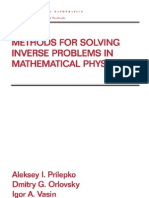 Methods for Solving Inverse Problems in Mathematical Physics - Prilepko, Orlovskiy