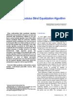 Sliced Multi-Modulus Blind Equalization Algorithm