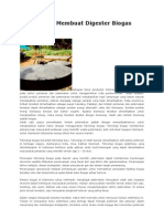 Cara Mudah Membuat Digester Biogas