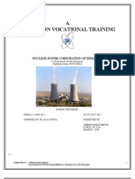 Training Report Npcil Rapp Rawatbhata