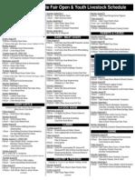 2012 Livestock Schedule