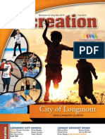 Longmont Recreation Fall 2012 Brochure