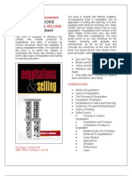 Neotiations & selling