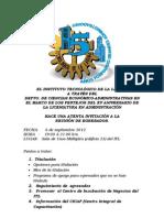 Invitación Reunión de Egresados Lic. Administración.
