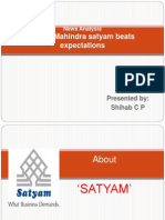 News Analysis- Mahindra Satyam