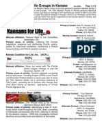Major Pro Life Groups in Kansas (Prolife Propaganda Guide)