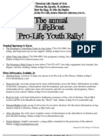 The Annual Lifeboat Pro-Life Youth Rally (Prolife Propaganda Brochure)