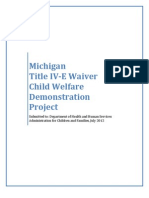 Michigan Title IV-E Waiver Child Welfare Demonstration Project, July 2012