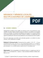 Bbcap 5 Maximos y Minimos Locales, Multiplicadores de Lagrange (Nxpowerlite)