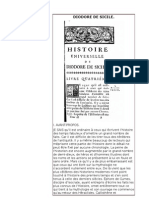 Diodore de Sicile   -Bibliothèques historiques  I à IV