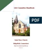 Respect Life Committee Handbook (prolife Propaganda Manual)