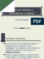 TEORÍA DE SISTEMAS Y PENSAMIENTO COMPLEJO(1)