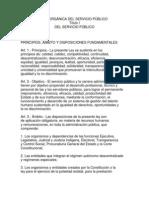 LEY ORGÁNICA DEL SERVICIO PÚBLICO