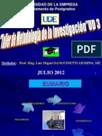 UDE Taller de Metodología Julio 2012 UD 3