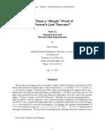 Simple Proof of Last Fermat Theor