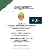 La enseñanza de la Metodología Científica en la Facultad de Ciencias Económicas2012