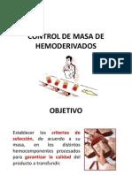 Control de calidad hemocomponentes