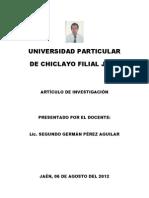 ARTICULO DE INVESTIGACIÓN UDCH