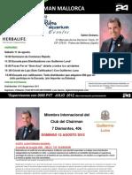 Guillermo Luna en Palma y Madrid, 11 y 12 de Agosto, Actualizado