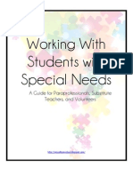 Working With Students With Special Needs
