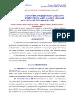 Copolimerización del iPP con unidades de dietiléster del ácido maléico mediante reacciones de funcionalización