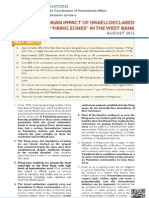 """THE HUMANITARIAN IMPACT OF ISRAELI-DECLARED """"FIRING ZONES"""" IN THE WEST BANK"""