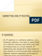 Summer Training Report on Subnet and Ip Routingppt