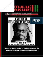 Who is Dr Mutulu Shakur a Lifelong Activist in the New Afrikan Independence Movement