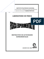 Upiicsa Manual Fisica Experimental III