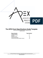 APEX Event Specifications Guide
