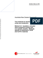 As NZS 1660.2.2-1998 Test Methods for Electric Cables Cords and Conductors Insulation Extruded Semi-conductiv