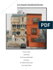 Ecclecticism in Kuwait's Residential Streets