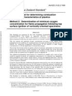 As NZS 2122.2-1999 Methods of Test for Determining Combustion Propagation Characteristics of Plastics Determi