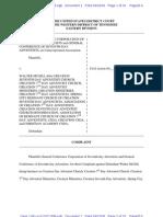 Complaint Seventh Day Adventist Churc v Walter McGill