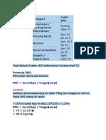BMI JADUAL