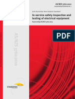 As NZS 3760-2010 in-Service Safety Inspection and Testing of Electrical Equipment