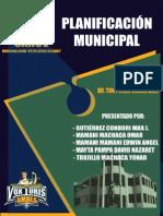 Derecho Municipal y Regional - Planificación Municipal (Max Gutierrez Condori)