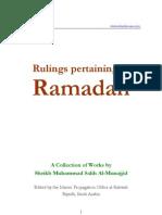 Rulings Pertaining to Ramadaan